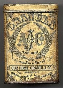 An original tin of Granula