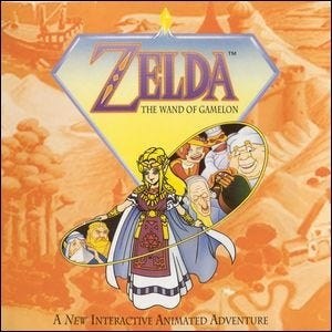 """The cover of the game """"Zelda: The Wand of Gamelon""""."""