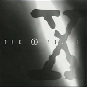The logo for The X-Files.