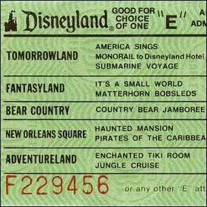 An example of a Disney E Ticket.