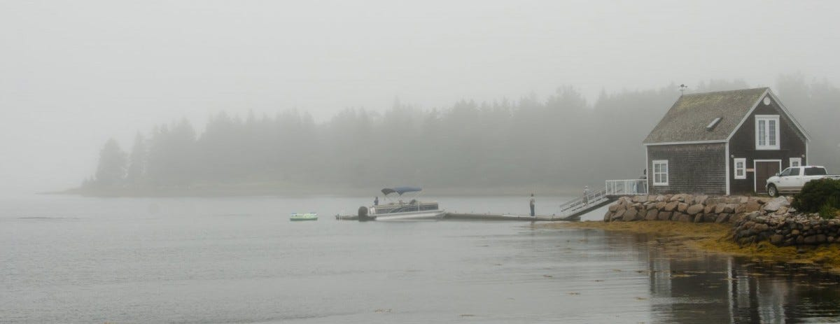 Oak Island in the Fog - Nova Scotia - Canada
