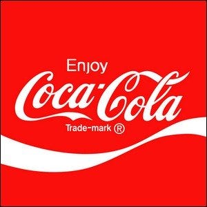 Coca-Cola's well-known logo.
