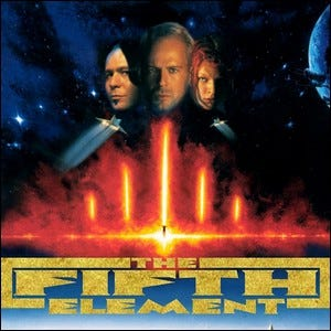 The movie poster for the sci-fi film The Fifth Element.
