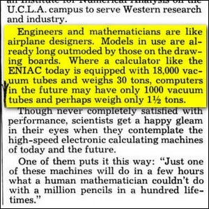 An article clipping from the March 1949 issue of Popular Mechanics.
