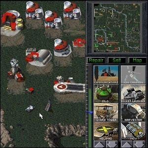 A screenshot of an early version of Command & Conquer.
