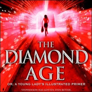 The cover of the novel The Diamond Age.