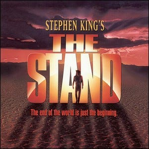 "The front cover of Stephen King's ""The Stand""."