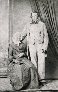 19th century photo of Maria Ann Sherwood and her husband