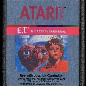 The cover art for the 1982 E.T. Atari game.