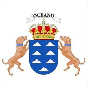 The Coat of Arms for the Canary Islands.
