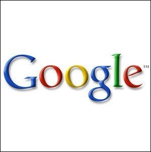 An example of one of the early Google logos.