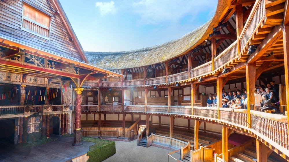 Shakespeare's Globe, a reconstruction of the Globe Theater