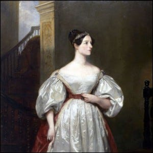 An 1836 portrait of Ada Lovelace.