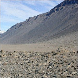 The McMurdo Dry Valleys in Antarctica.