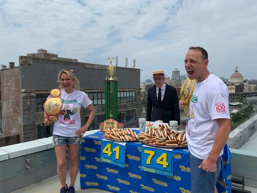 Hot dog eating competition winners
