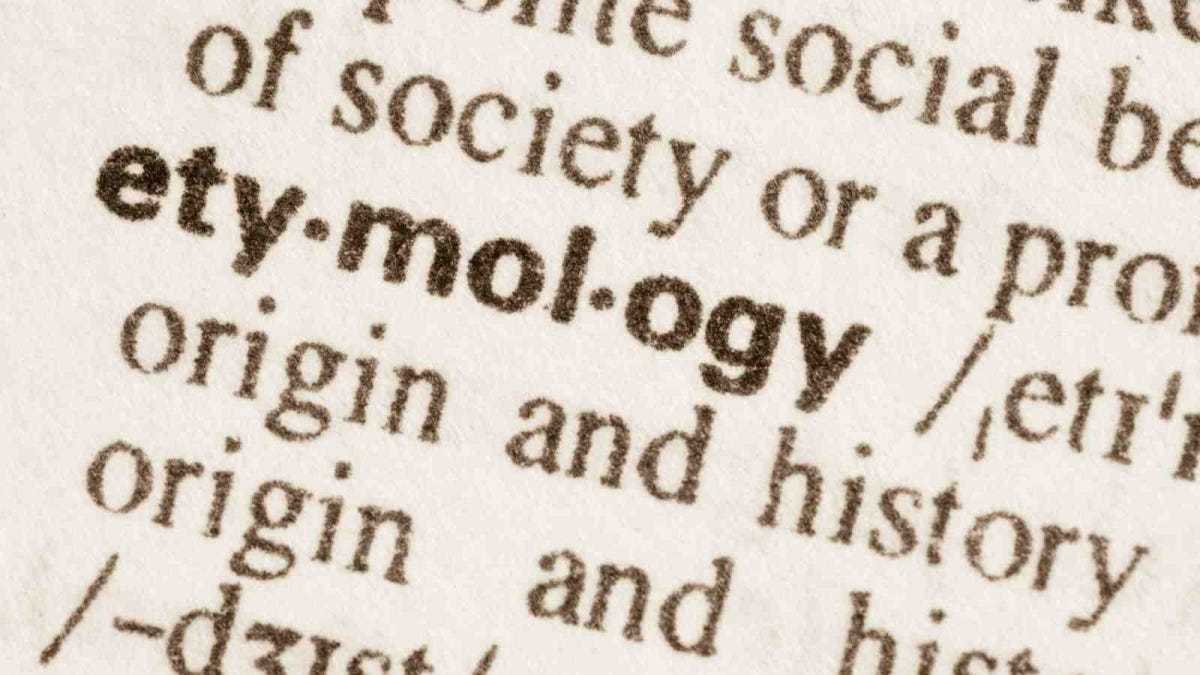 Definition of word etymology in dictionary