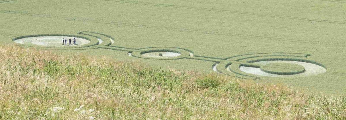 Crop Circle in green field